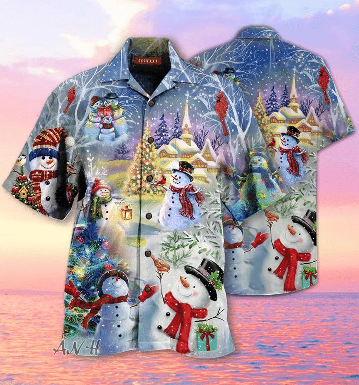 Amazing christmas snowman unisex hawaiian shirt