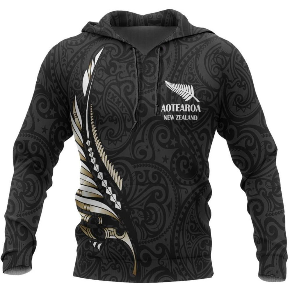 Aotearoa New Zealand all over printed 3D hoodie