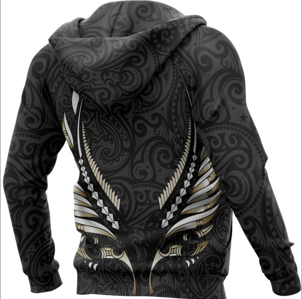Aotearoa New Zealand all over printed 3D hoodie - dnstyles