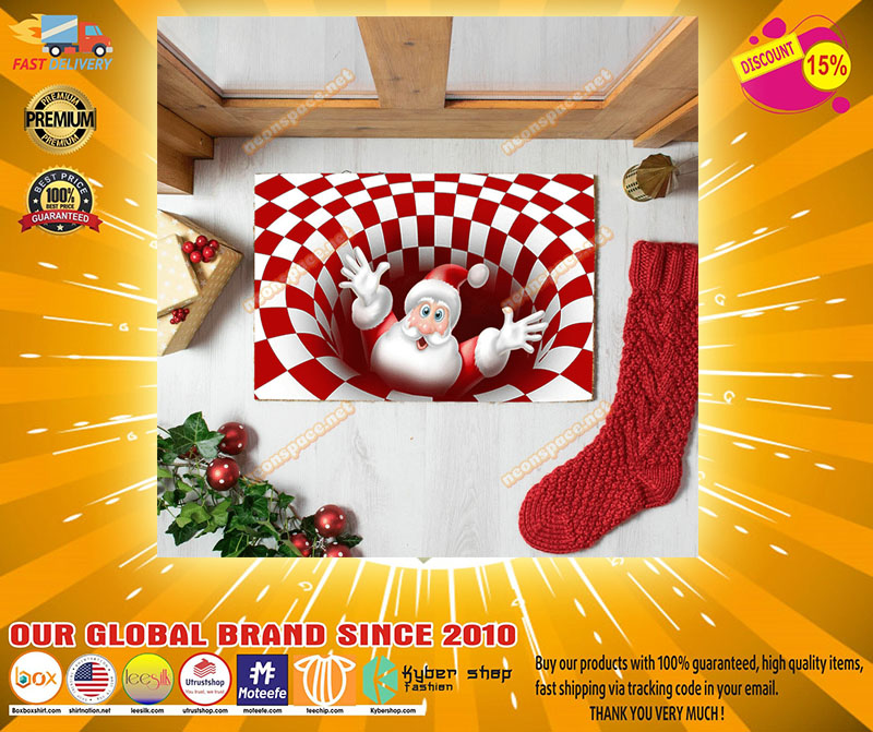 Christmas santa Clause 3D Illusion Doormat - LIMITED EDITION