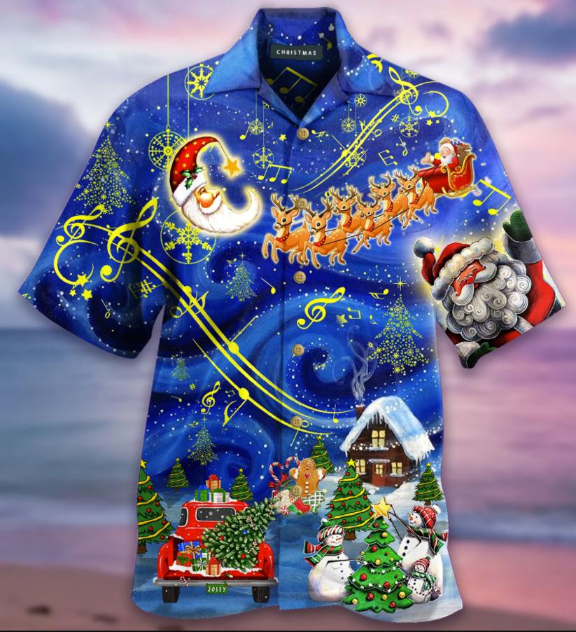 Christmas sky hawaiian shirt - dnstyles