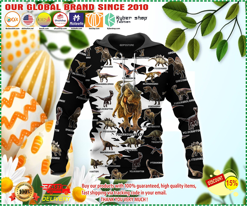 Dinosaur art 3D all over printed hoodie - LIMITED EDITION