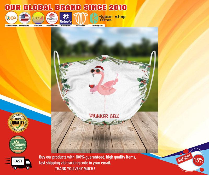 Flamingo drinker bell face mask1
