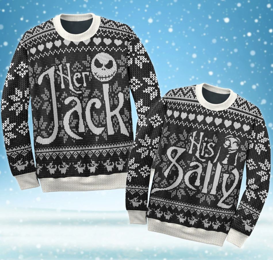 Her Jack and His Sally ugly sweater