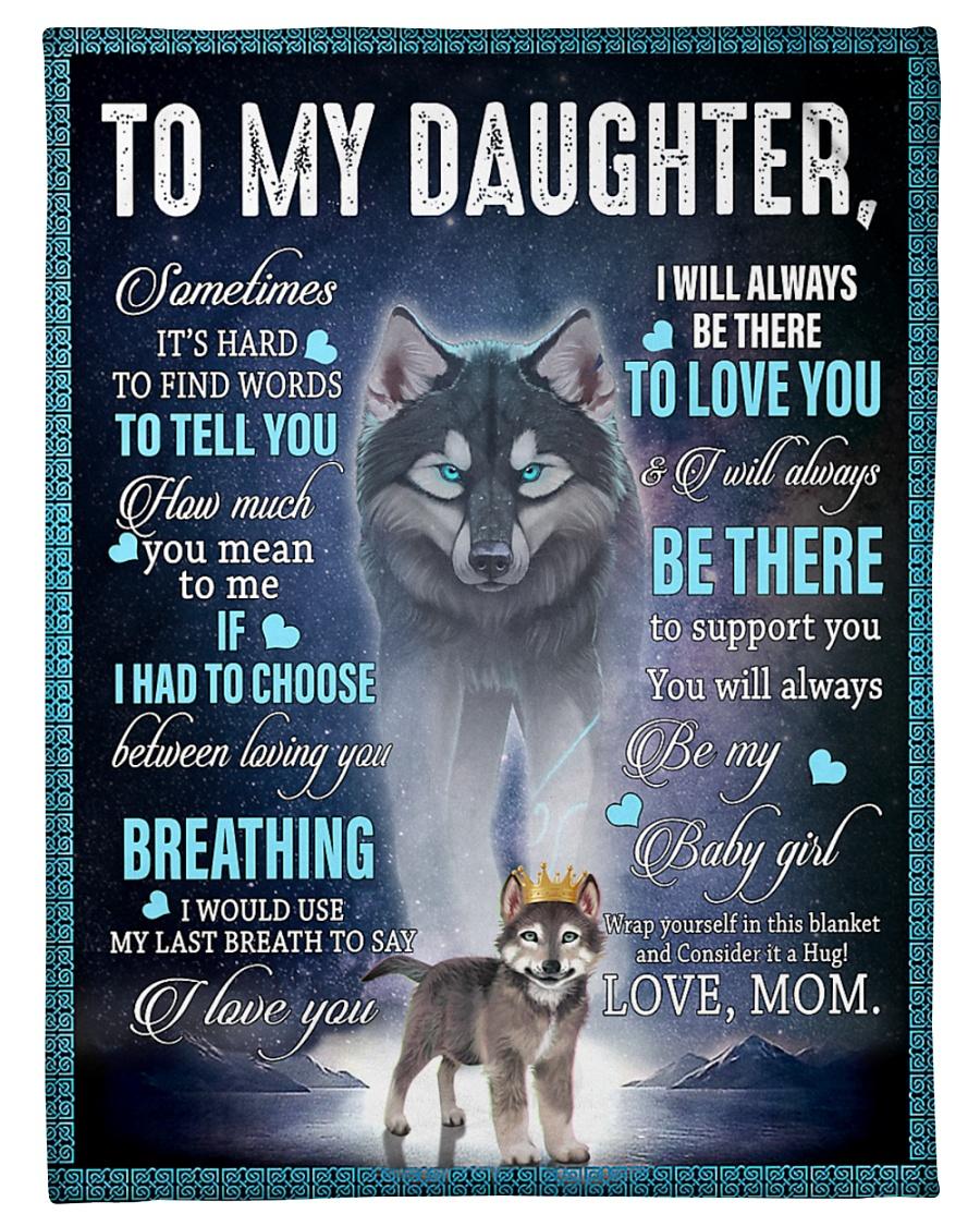 Husky dog to my daughter love mom blanket