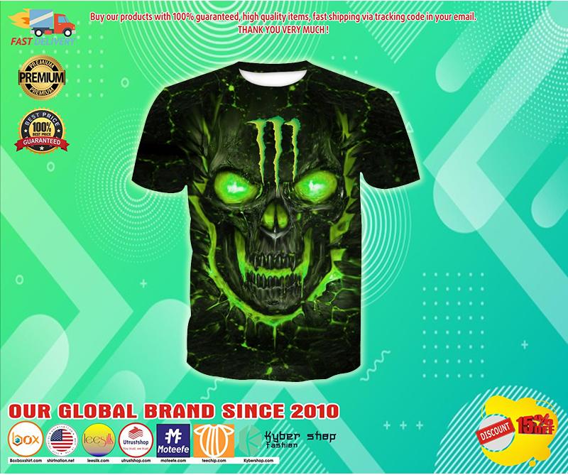 Monster energy lava skull full over print shirt - LIMITED EDITION BBS