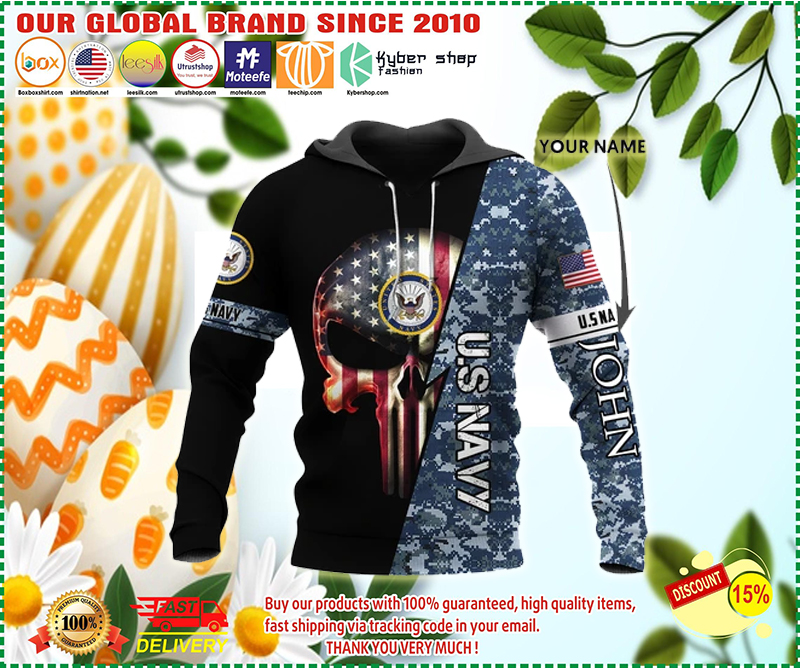 Personalized us navy skull full printing hoodie - LIMITED EDITION BBS
