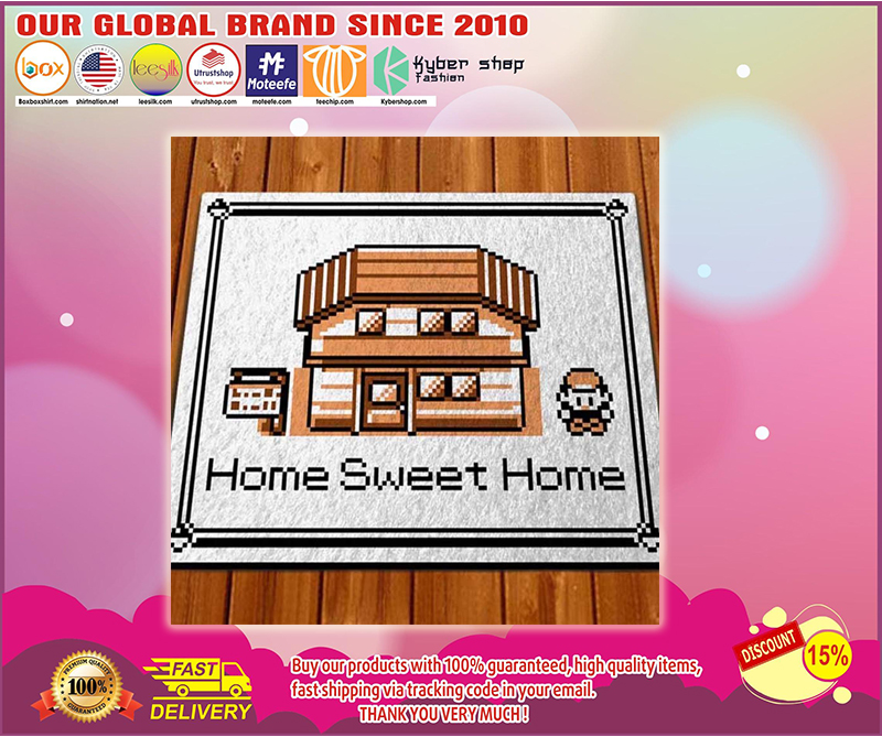 Pokemon game home sweet home doormat - LIMITED EDITION