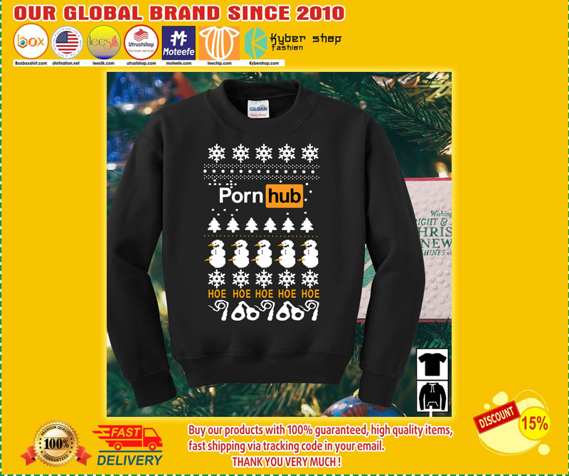 Pornhub Hoe Hoe Hoe 3D Christmas Sweater - LIMITED EDITION BBS