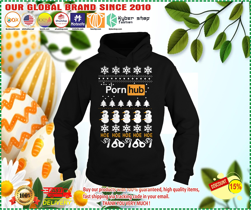 Pornhub Hoe Hoe Hoe 3D Christmas hoodie - LIMITED EDITION
