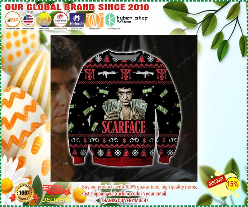 Scarface ugly christmas sweatshirt – LIMITED EDTION