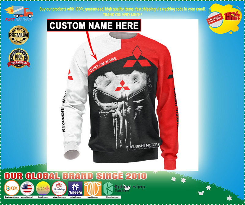 Skull Mitsubishi 3d hoodie ccustom personalized name – LIMITED EDITION