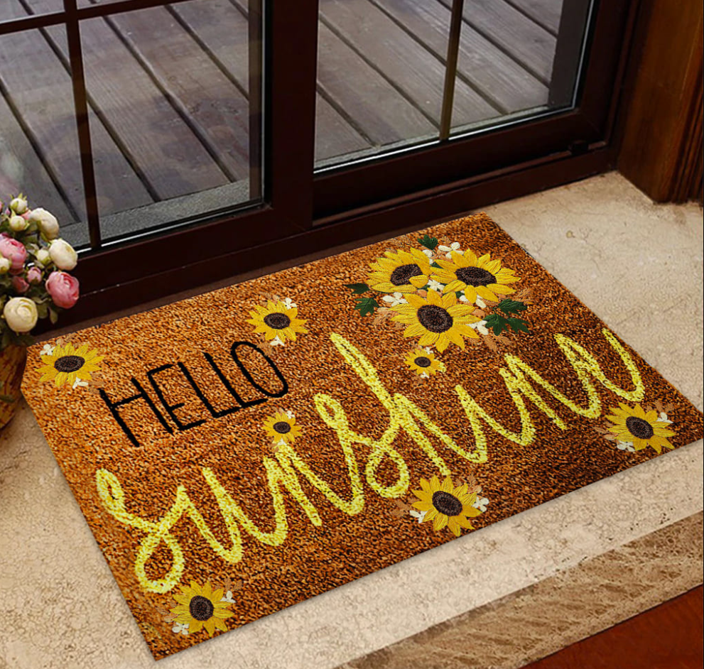 Sunflower hello sunshine doormat