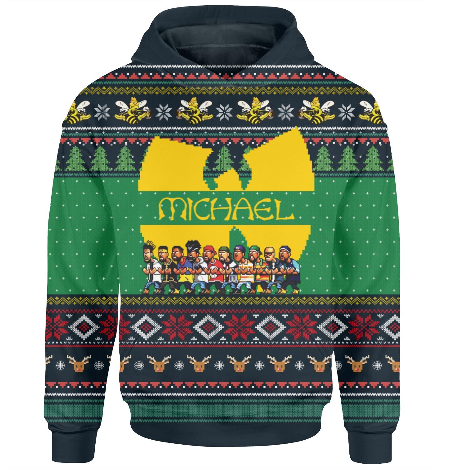 Wu tang clan custom personalized name 3d hoodie