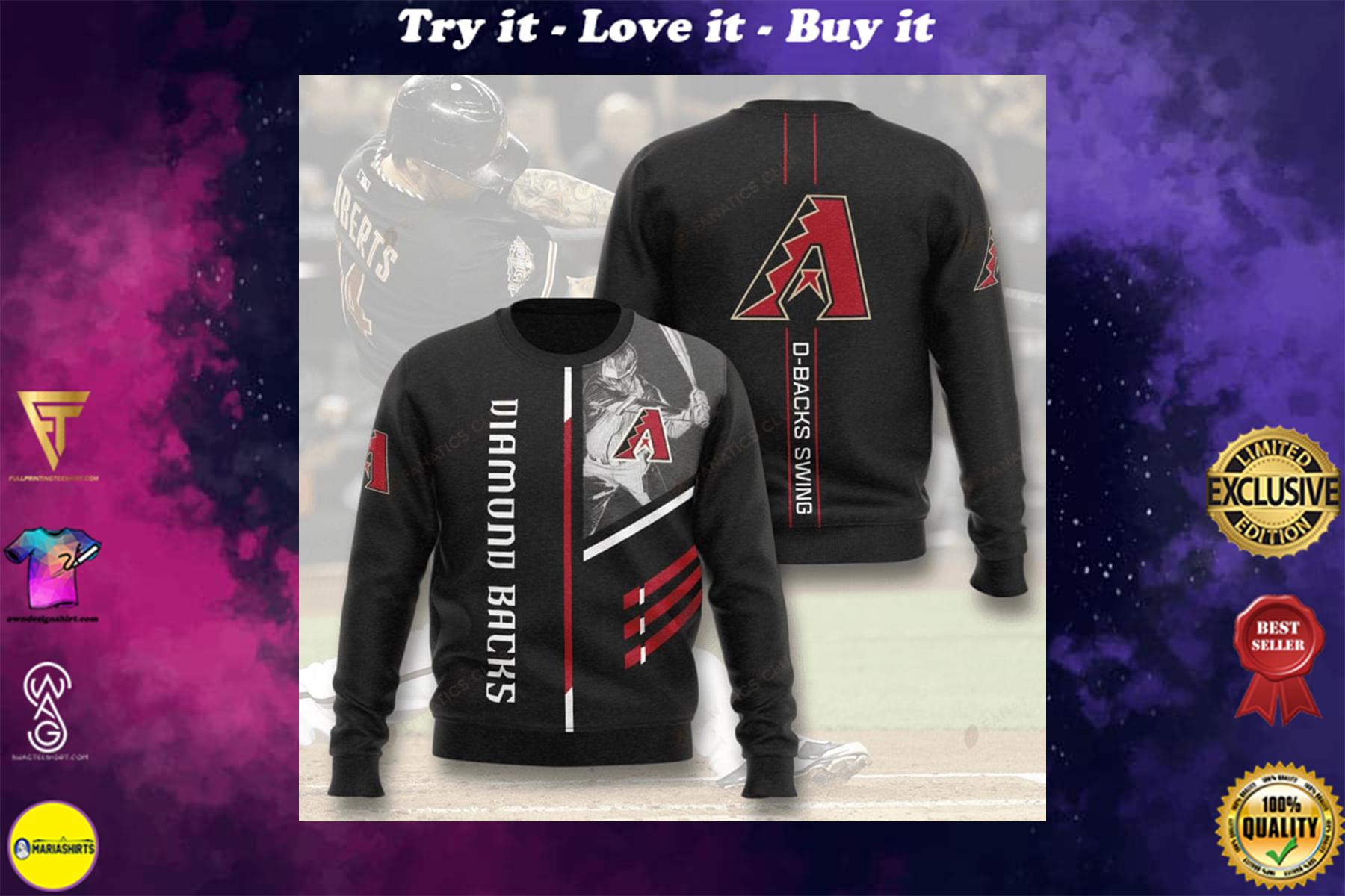 [highest selling] arizona diamondbacks d-backs swing full printing ugly sweater - maria