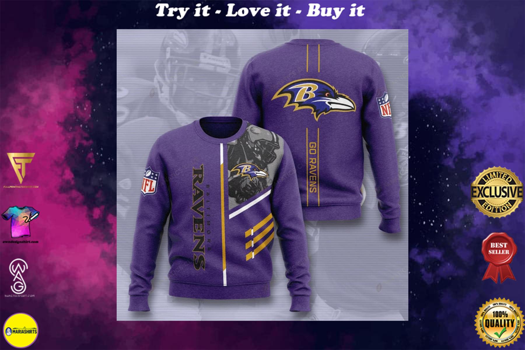 [highest selling] baltimore ravens go ravens full printing ugly sweater - maria