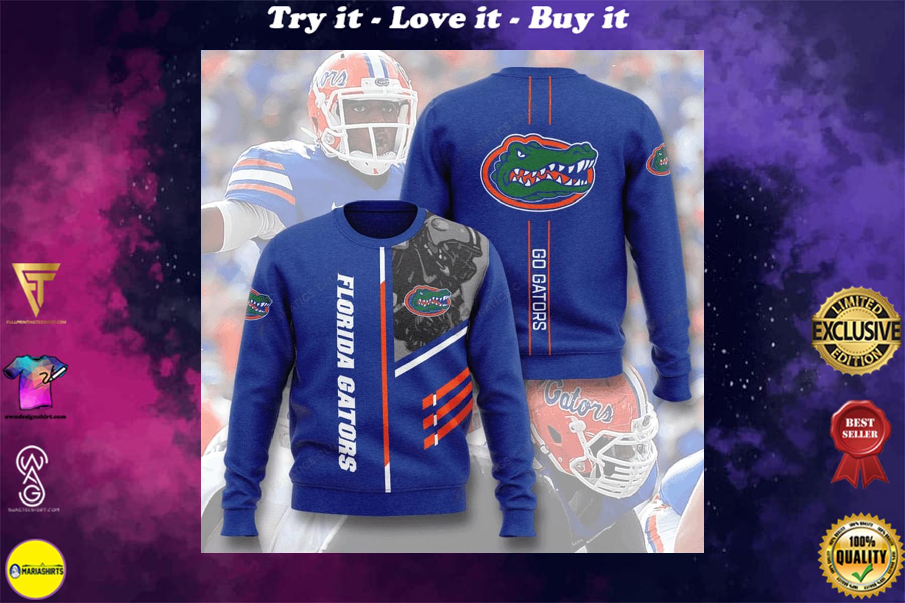 [highest selling] florida gators football go gators full printing ugly sweater - maria