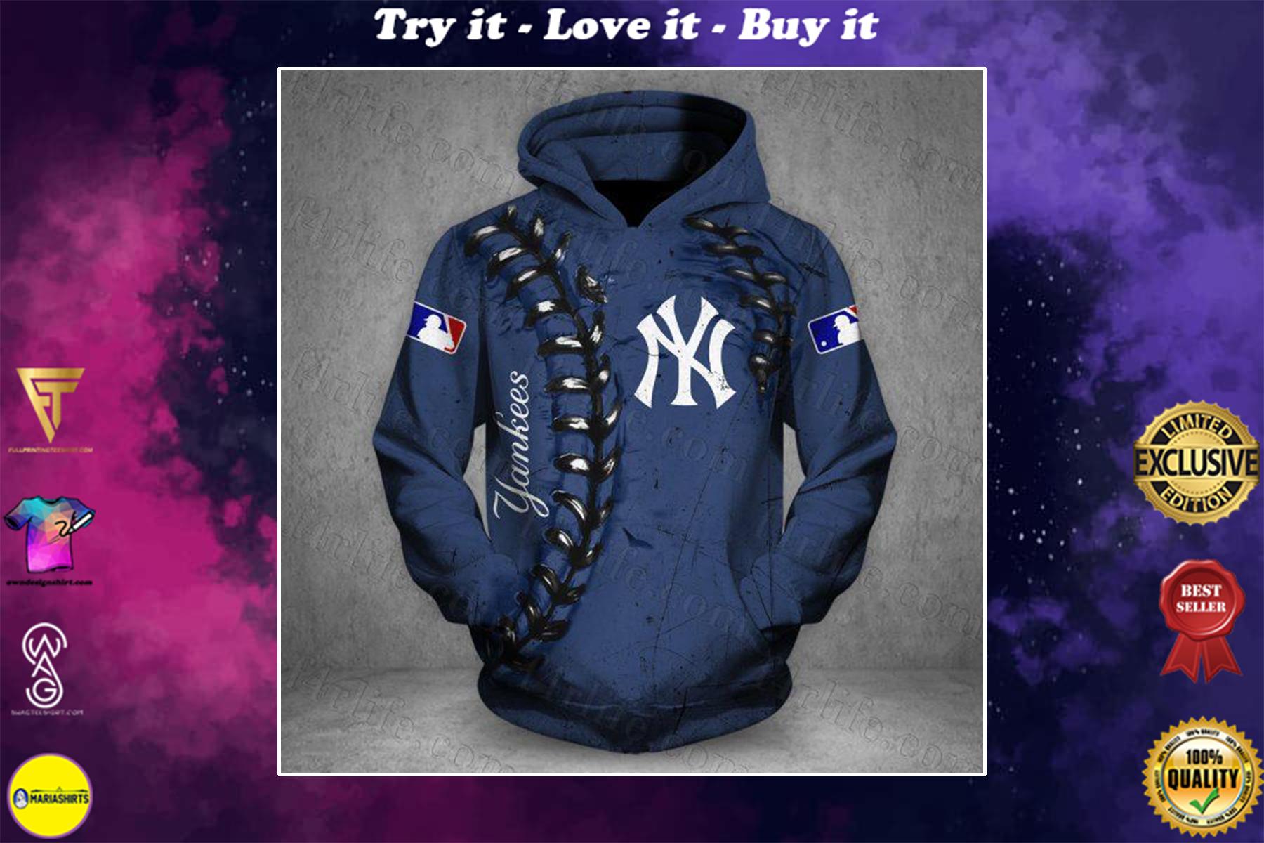 [highest selling] major league baseball new york yankees full over printed shirt - maria