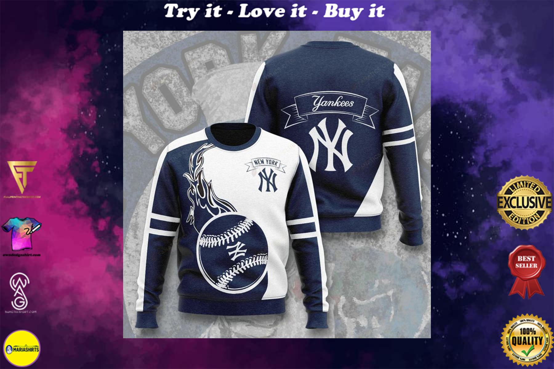 [highest selling] major league baseball new york yankees full printing ugly sweater - maria