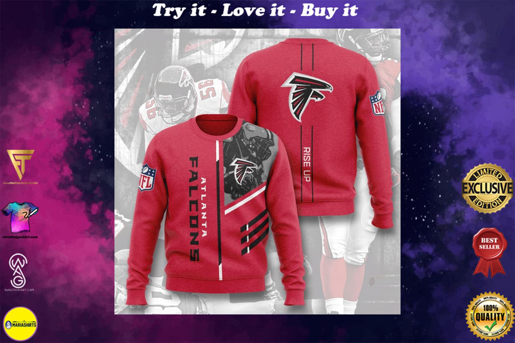 [highest selling] national football league atlanta falcons rise up full printing ugly sweater - maria