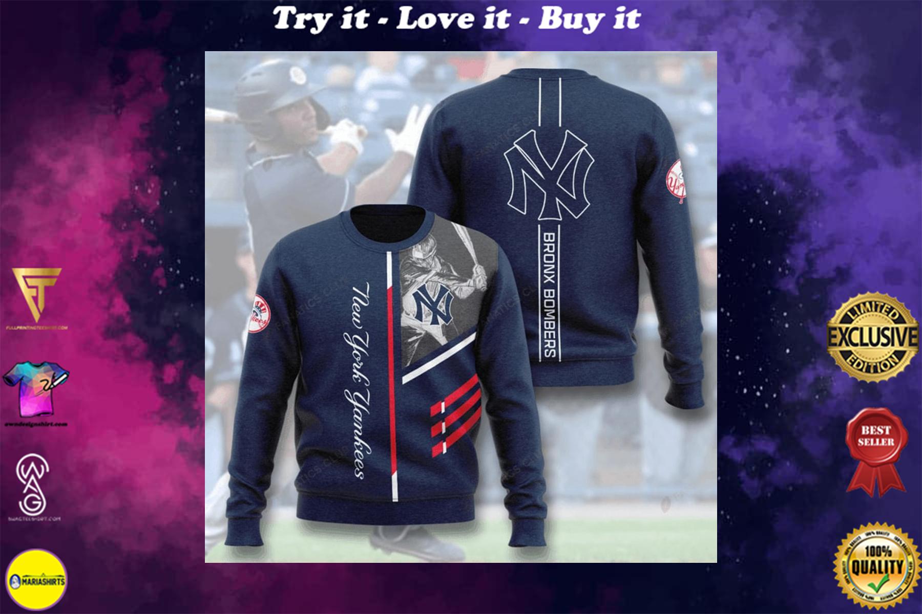 [highest selling] new york yankees bronx bombers full printing ugly sweater - maria