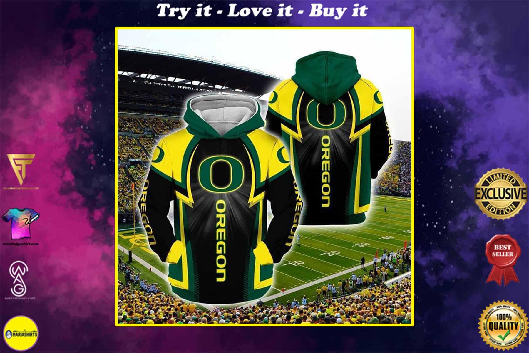 [highest selling] the oregon ducks football full over printed shirt - maria