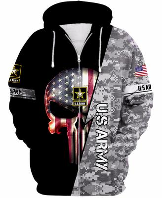 [highest selling] us army skull american flag camo full over printed shirt - maria