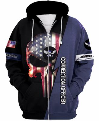 [highest selling] us correction officer skull american flag camo full over printed shirt - maria