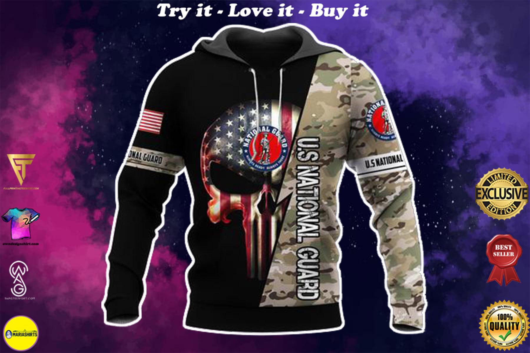 [highest selling] us national guard skull american flag camo full over printed shirt - maria