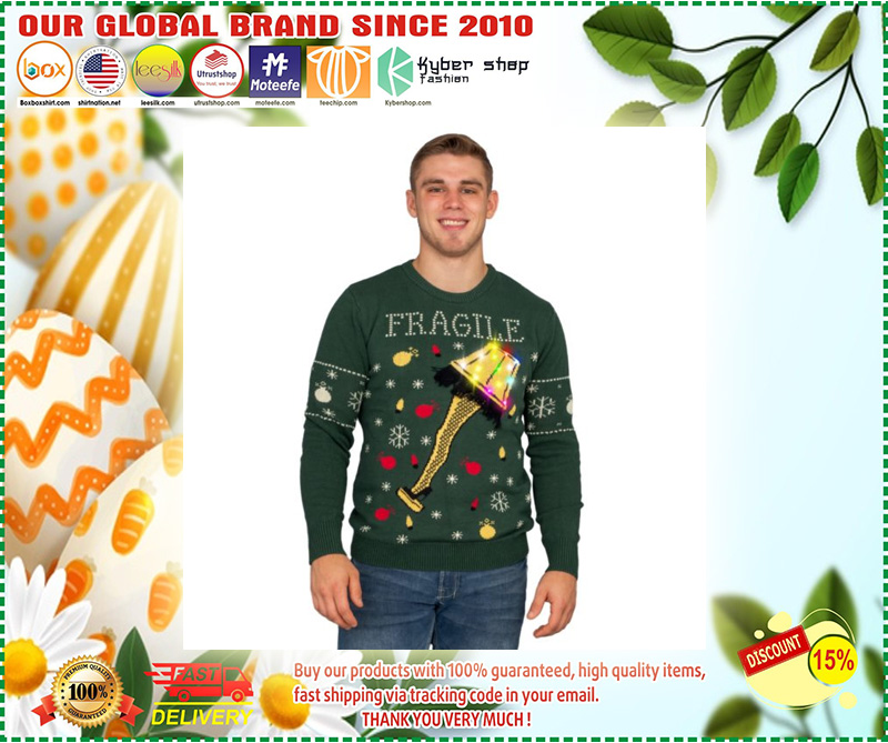 A Christmas Story Fragile Leg Lamp Light Up Ugly Christmas Sweater – LIMITED EDTION