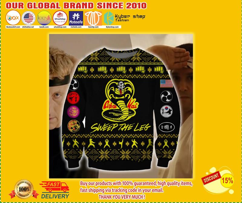 Cobra kai sweep the leg ugly christmas sweater - BBS