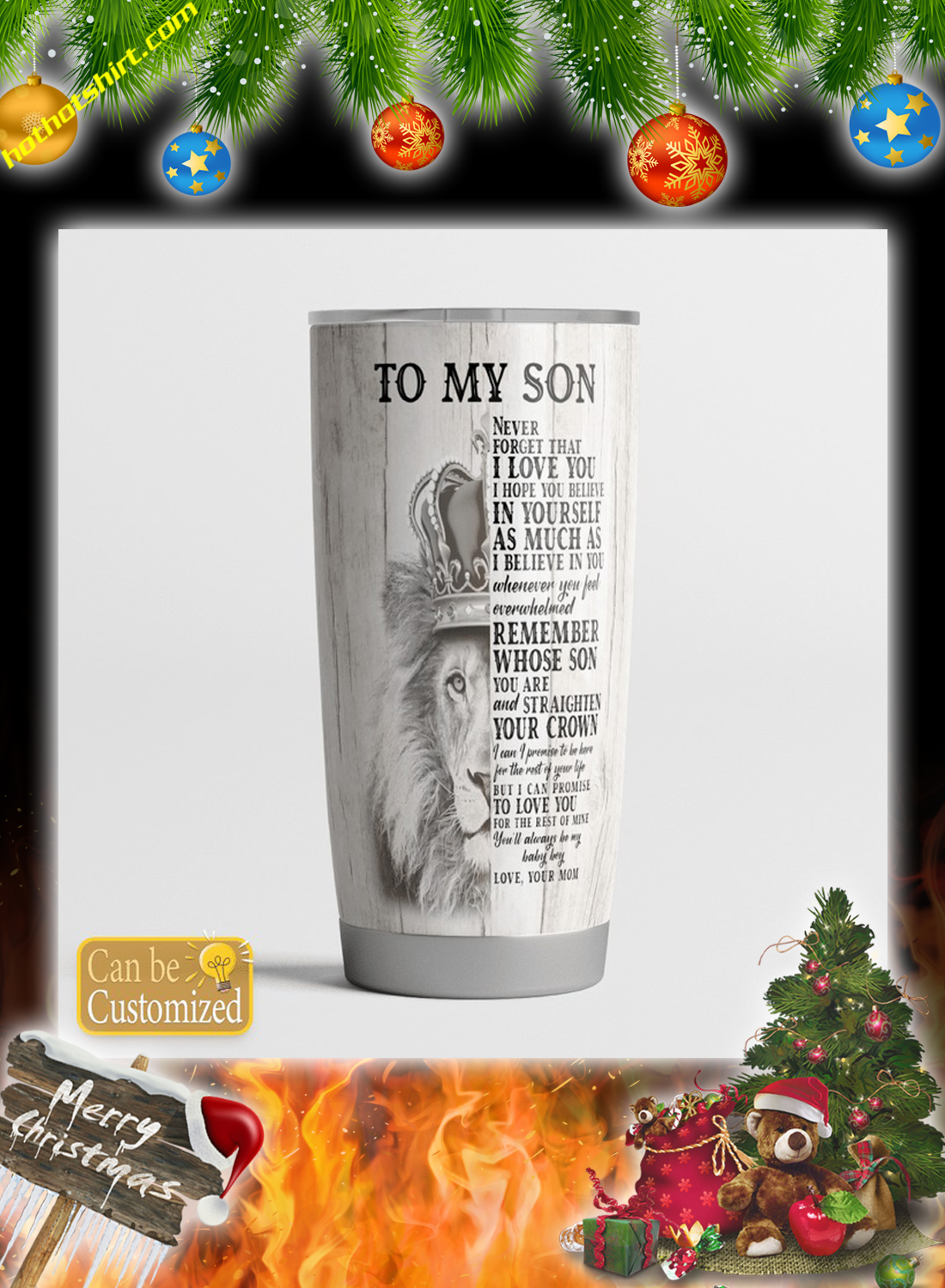 Personalize customize name Lion To my son you mom tumbler - Hothot 121120