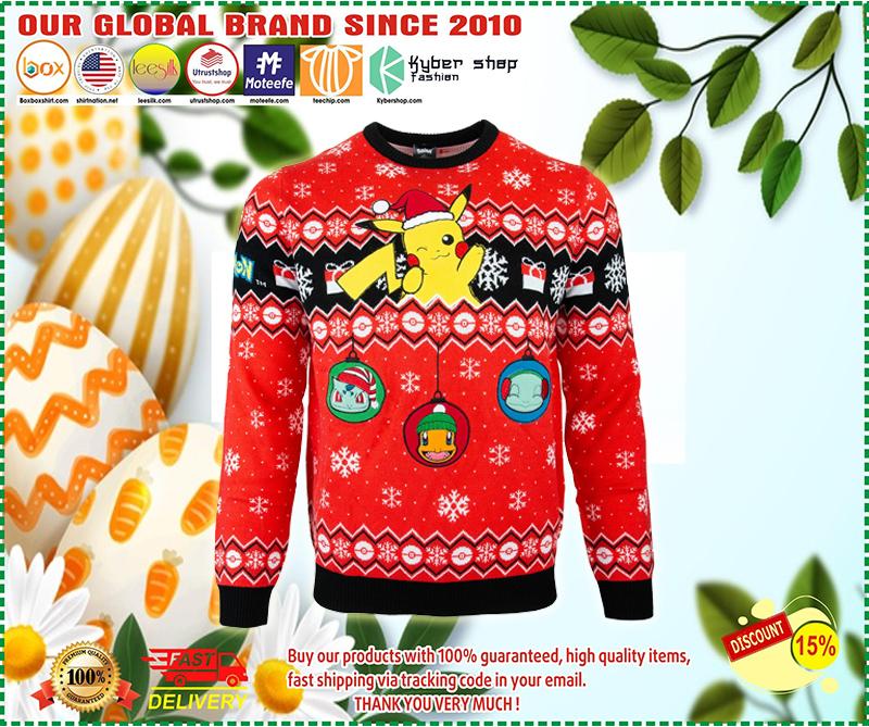Pikachu pokemon ugly christmas sweater - BBS