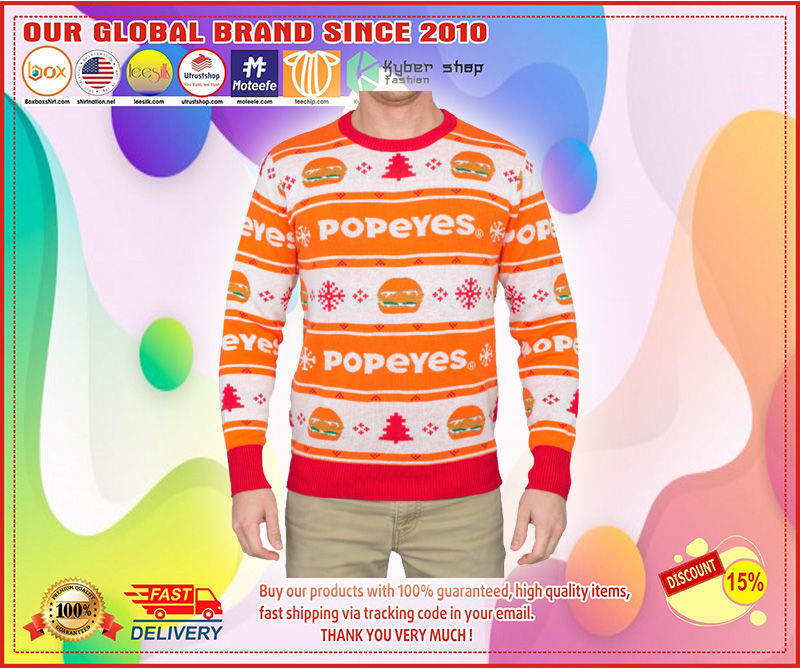 Popeyes Ugly Christmas Sweater – LIMITED EDTION
