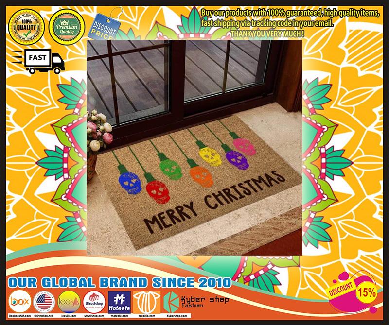 Skull  Merry Christmas doormat - LIMITED EDITION