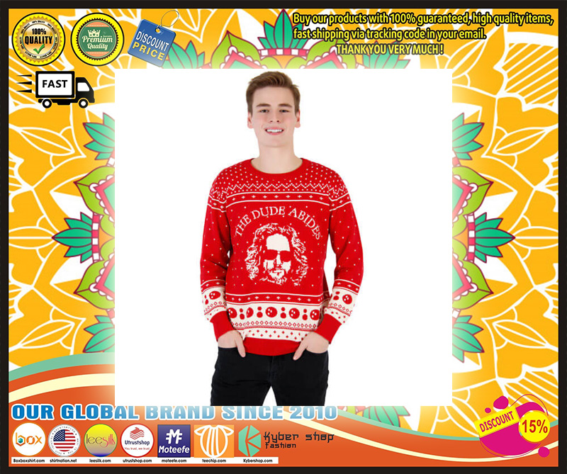 The Big Lebowski The Dude Abides Ugly Christmas Sweater – LIMITED EDTION