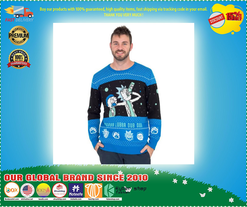 Wubba Lubba Dub Dub Rick and Morty Ugly Christmas Sweater – LIMITED EDTION