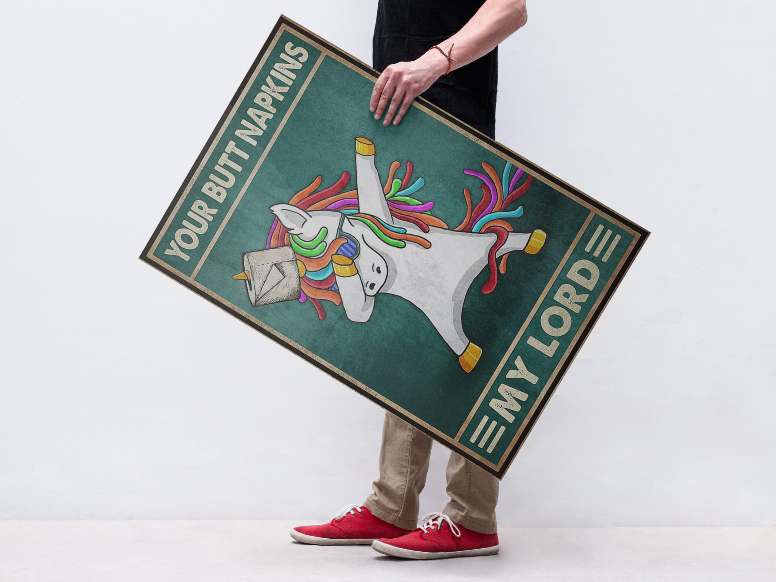 Unicorn dabbing your butt napkins my Lord poster 1