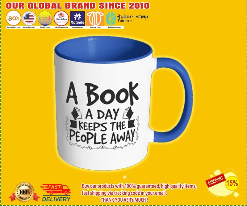 A Book A Day Keeps The People Away Mug - BBS
