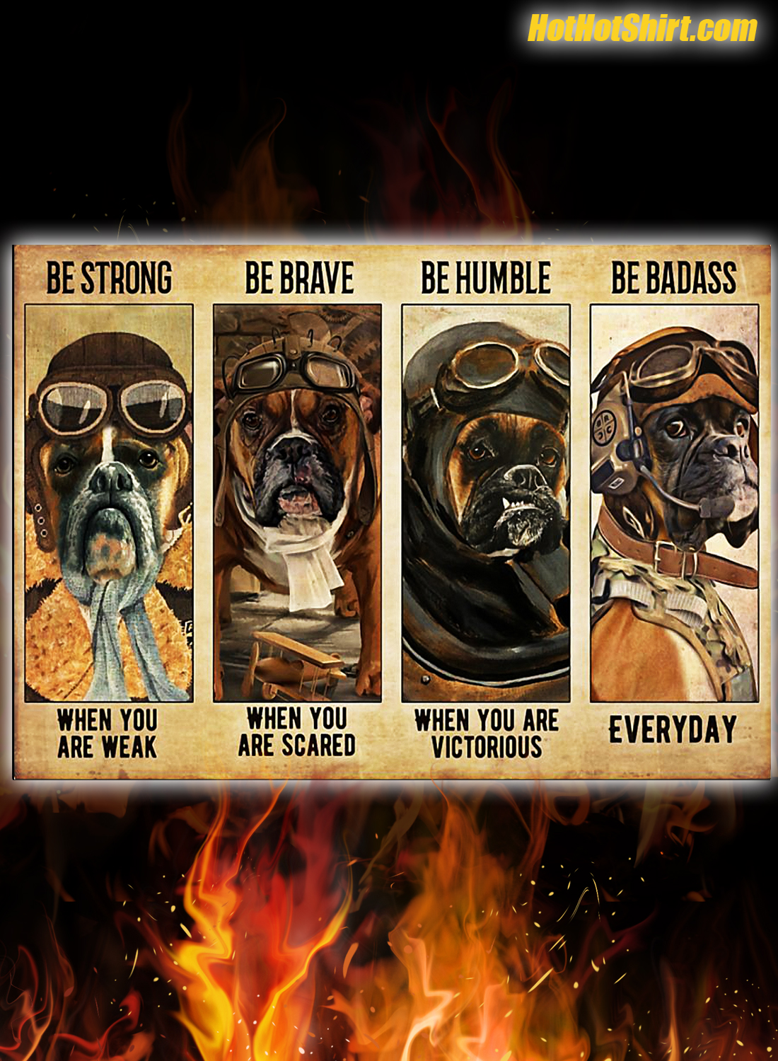 Boxer pilot be strong be brave be humble be badass poster 1