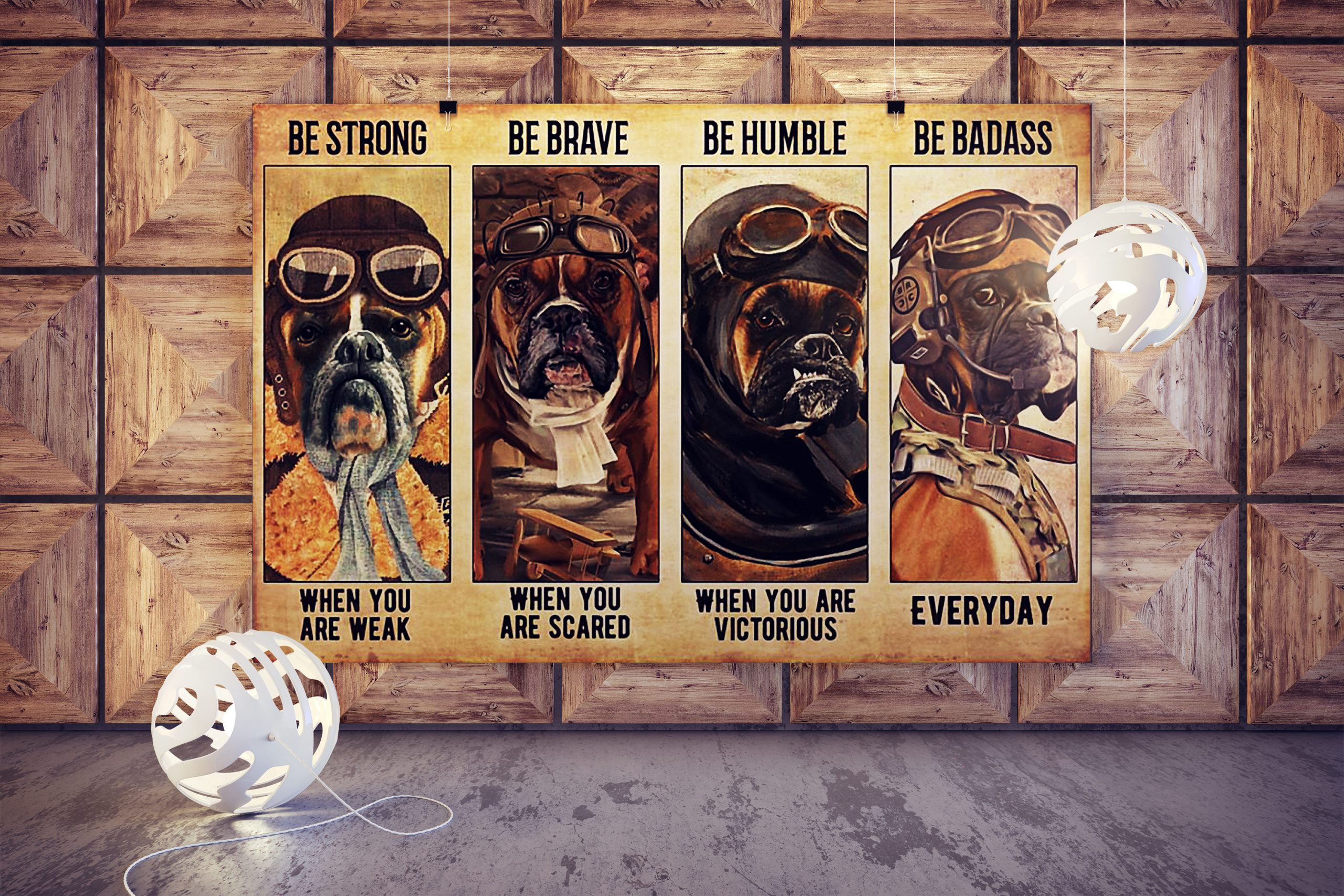 Boxer pilot be strong be brave be humble be badass poster 2