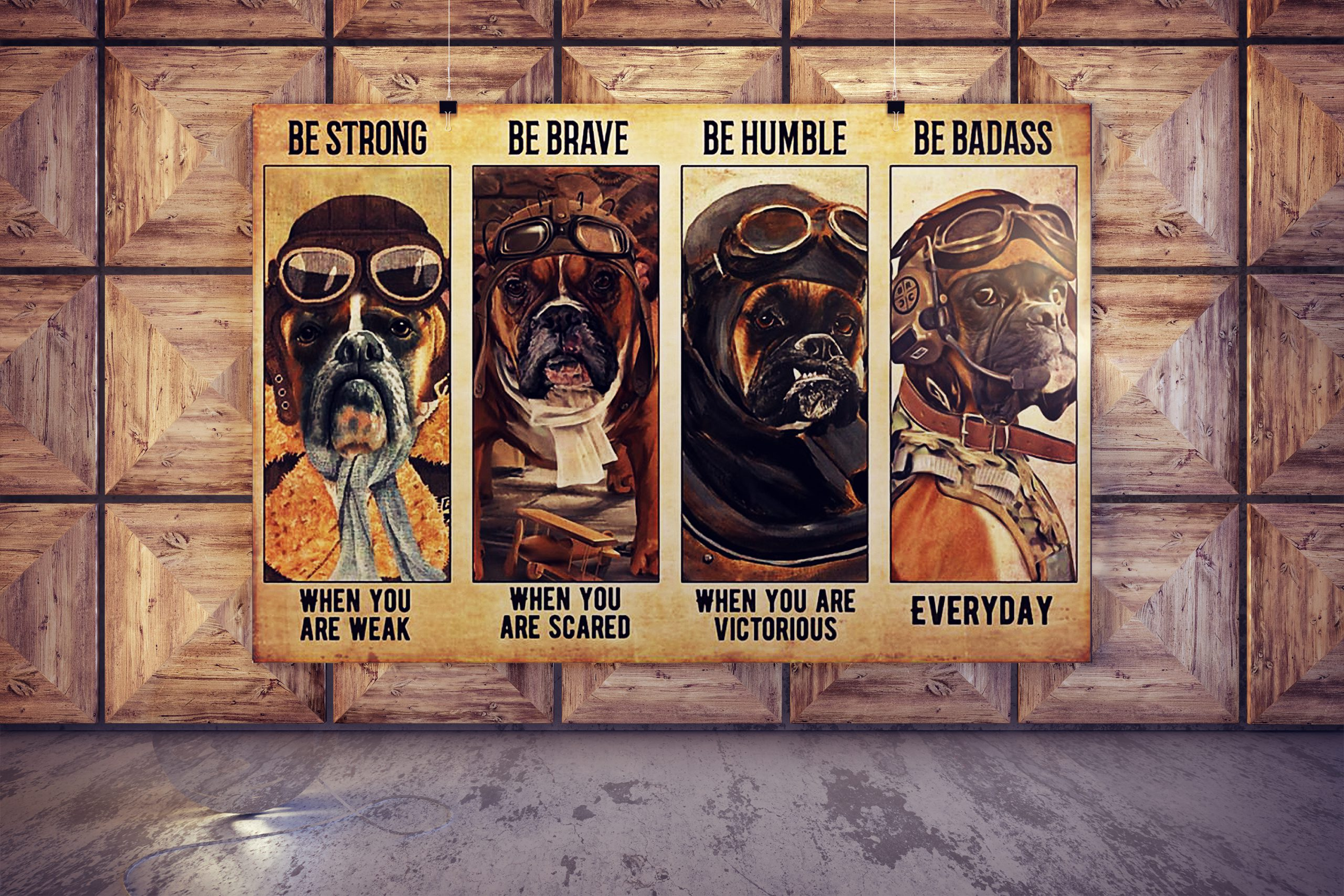 Boxer pilot be strong be brave be humble be badass poster 3
