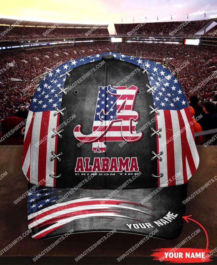 [highest selling] custom name alabama crimson tide and american flag full printing cap - maria