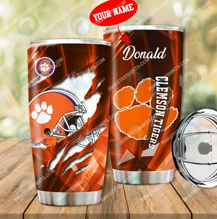 [highest selling] custom name clemson tigers football full printing tumbler - maria