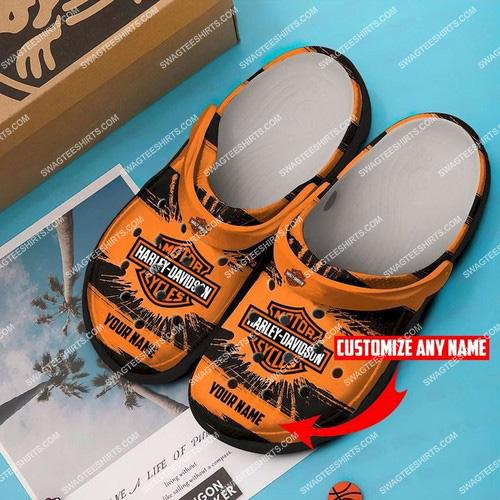 [highest selling] custom name harley davidson motorcycles all over printed crocs - maria