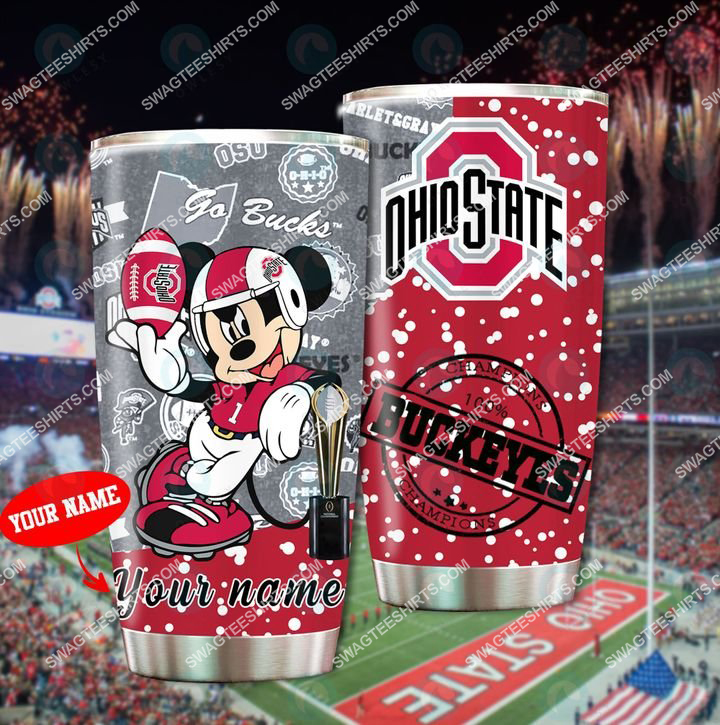 [highest selling] custom name mickey mouse and ohio state buckeyes full printing tumbler - maria