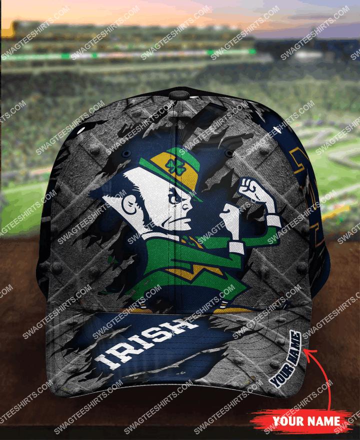 [highest selling] custom name notre dame fighting irish football full printing cap - maria