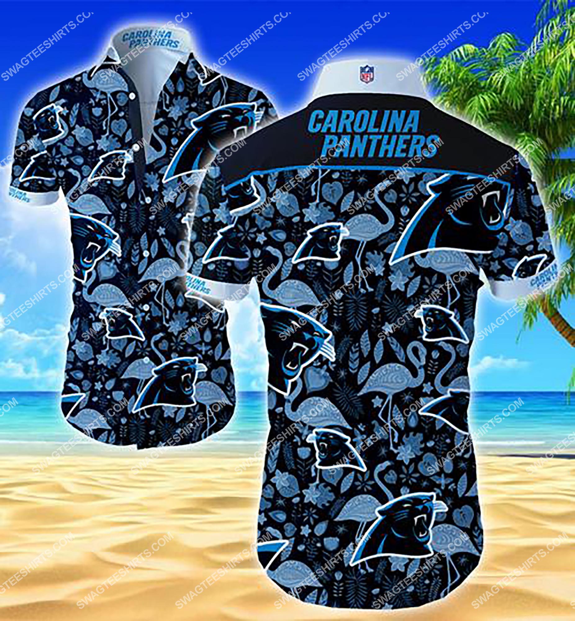 [highest selling] the carolina panthers football team summer hawaiian shirt - maria
