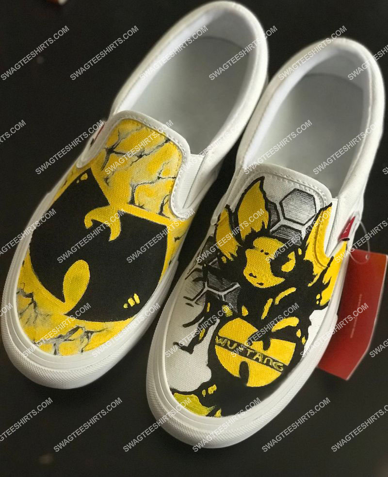 [highest selling] wu-tang clan all over print slip on shoes - maria