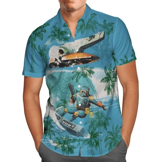 Star Wars Boba Fett Aloha Hawaiian Shirt - Hothot 150721